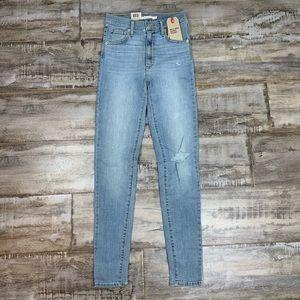 Levi's   Mile High Skinny Jeans Major Wash New